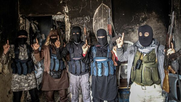 Members of al-Qaeda with covered face from different nationalities - Sputnik International