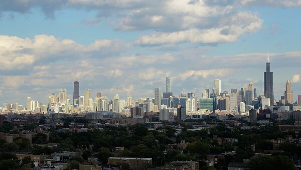 Chicago skyline as seen from the top of the original Sears Tower. Homan Square. Chicago, IL - Sputnik International