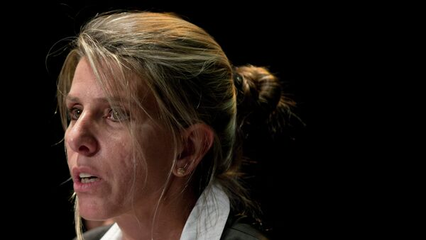 Sandra Arroyo Salgado, ex-wife of the late Argentina prosecutor Alberto Nisman, talks during a press conference in Buenos Aires, Argentina, Thursday, March 5, 2015. Salgado said that experts hired by the family of Argentine prosecutor concluded that he was killed and ruled out the hypothesis of suicide. - Sputnik International