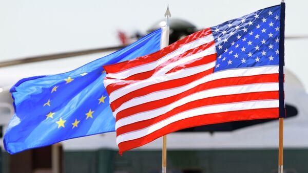 US and EU flags - Sputnik International