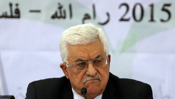 Palestinian leader Mahmud Abbas addresses the Palestinian leadership at the opening of a two-day conference in the West Bank city of Ramallah to discuss the future of the Palestinian Authority - Sputnik International