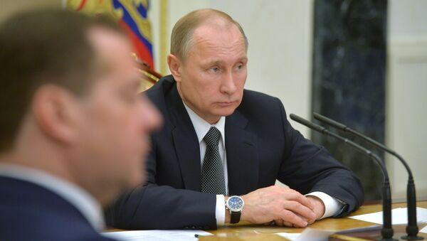 Russian President Vladimir Putin holds meeting with Government members - Sputnik International