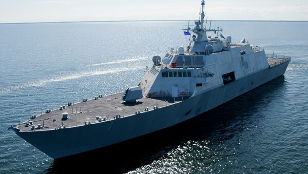 This July 28, 2008 file photo shows USS Freedom, the first ship in the Navy's new Littoral Combat Ship (LCS) class. - Sputnik International