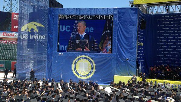 President Obama at UC Irvine Commencement 2014 - Sputnik International