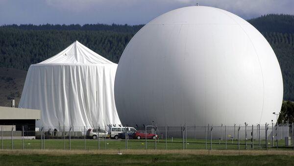 Satellite communications dome at Waihopai satellite communications interception station near Blenheim, New Zealand - Sputnik International