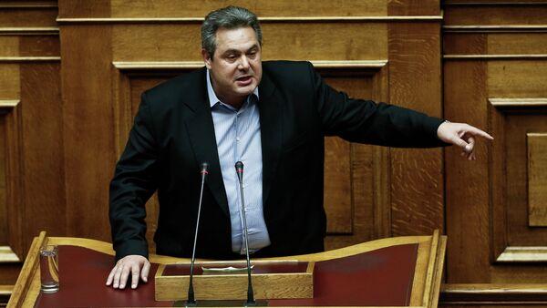 Greece Defense Minister Panos Kammenos - Sputnik International