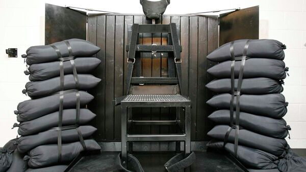 This file photo shows the firing squad execution chamber at the Utah State Prison in Draper, Utah. Utah's Gov. Gary Herbert will not say if he'll sign a bill to bring back the firing squad but does say the method would give Utah a backup execution method. - Sputnik International