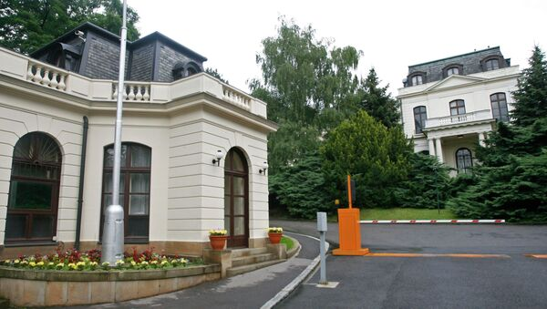 In this June 24, 2009 picture, the building of the Russian Embassy in Prague, Czech Republic, is shown - Sputnik International