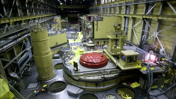 A general view of the reactor block No.2 in the nuclear power station of Paks at about 120kms south from Hungarian capital Budapest on Thursday 29 May 2003 - Sputnik International