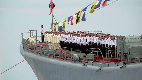 Servicemen of the Black Sea Fleet during Navy Day parade rehearsal in Sevastopol - Sputnik International