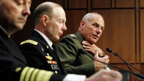 General John F. Kelly, right, speaks before the Senate Armed Services Committee. - Sputnik International