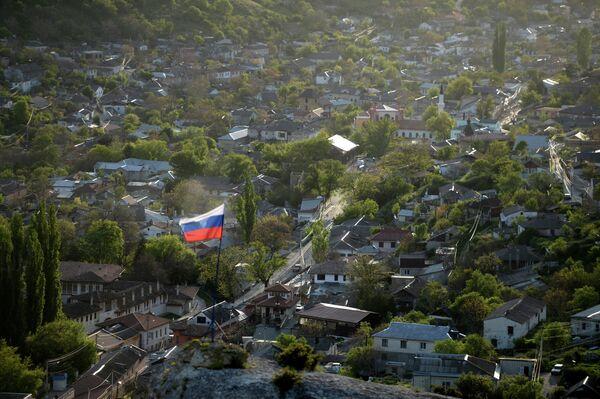 View of Bakhchisaray from rocks in south Crimea. - Sputnik International