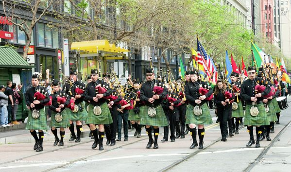 San Francisco St. Patrick's Day Parade and Festival, attracts some 100,000 revelers every year and is one of the city's most popular events. - Sputnik International