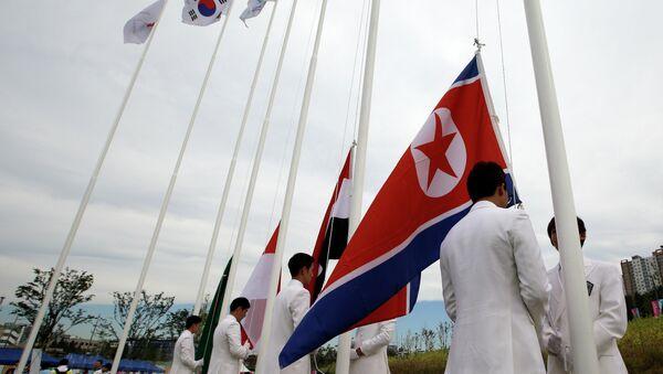 North Korea and South Korea Flag  - Sputnik International