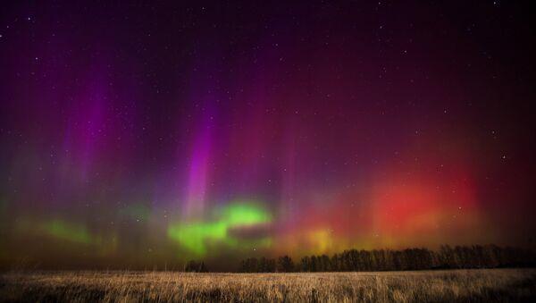 The northern lights, as seen in the Ryazan region of western Russia - Sputnik International
