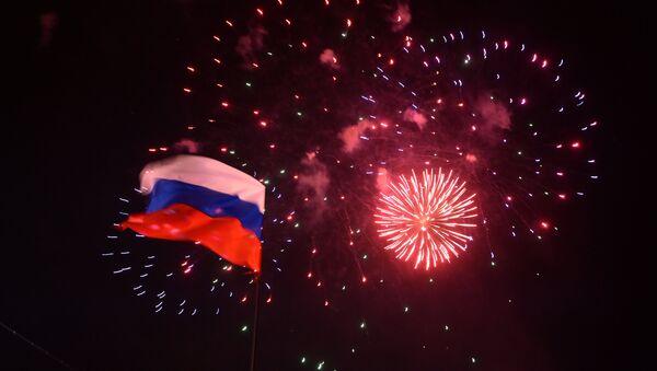 In downtown Simferopol after voting in referendum on status of Crimea - Sputnik International