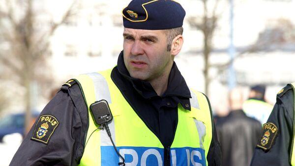 A police in Gothenburg, Sweden - Sputnik International