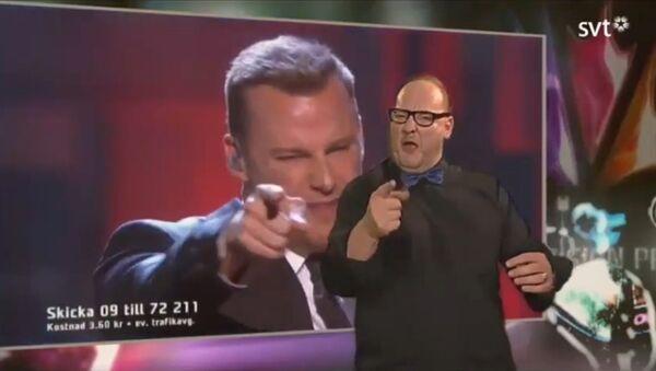 A sign language interpreter from Sweden has stolen the joy of victory from the winner. - Sputnik International