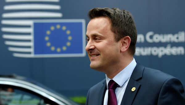 Luxembourg's Prime minister Xavier Bettel arrives for an European Council summit on March 19, 2015 at the Council of the European Union (EU) Justus Lipsius building in Brussels - Sputnik International