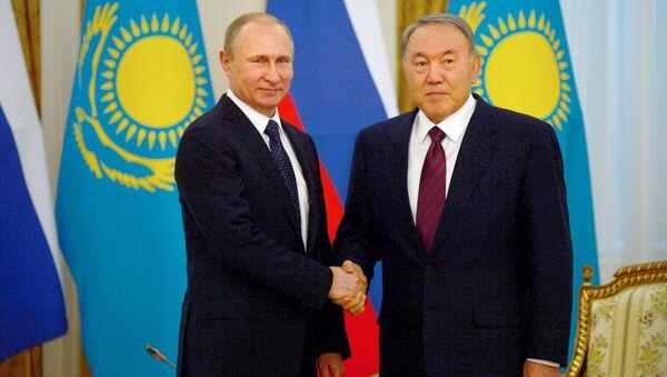 March 20. 2015. President Vladimir Putin (left) and President of Kazakhstan Nursultan Nazarbayev during a meeting at the Akorda residence - Sputnik International