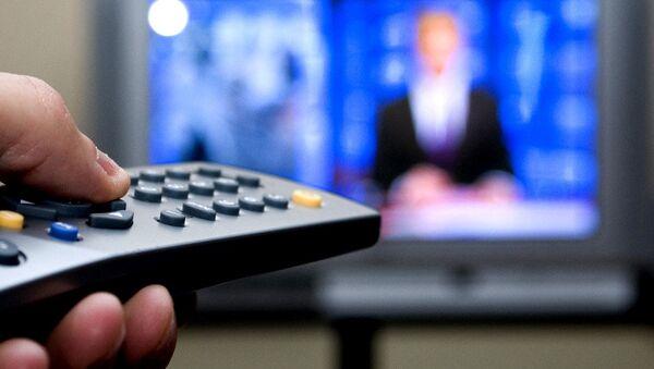 Television set and remote control - Sputnik International