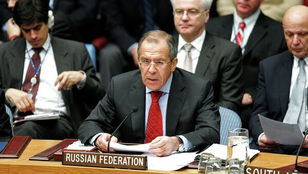 Russian Foreign Minister Sergei Lavrov addressing a meeting of the UN Security Council in New York - Sputnik International