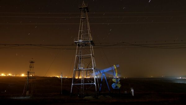 An oil pump at work near Ploiesti, Romania. - Sputnik International