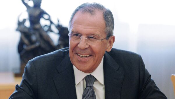 Russian Foreign Minister Sergey Lavrov meets with - Sputnik International