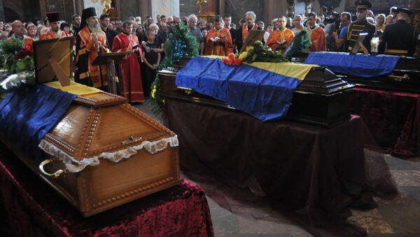Funerals of Ukrainian servicemen who died in Zelenopolye - Sputnik International