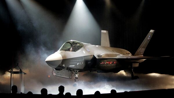 In this July 7, 2006 file photo, the Lockheed Martin F-35 Joint Strike Fighter is shown after it was unveiled in a ceremony in Fort Worth, Texas. - Sputnik International