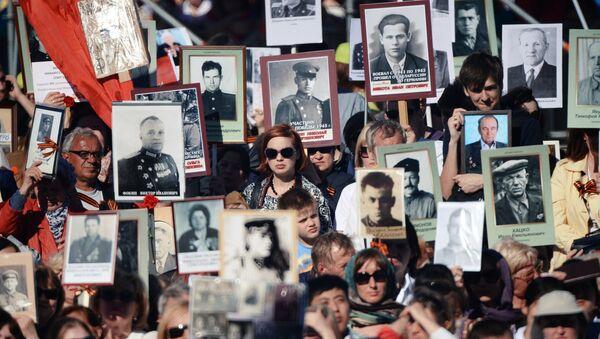 Immortal Regiment march in Russia - Sputnik International