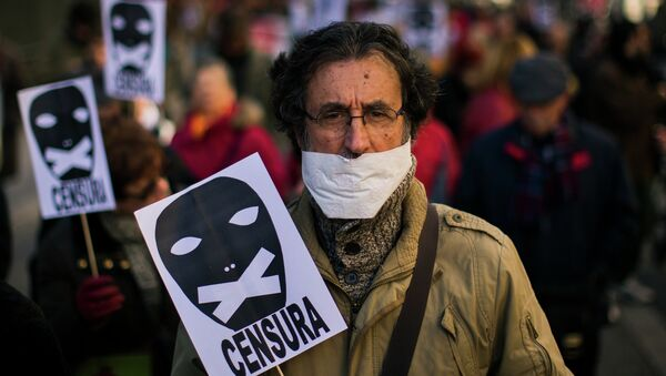 A demonstrator - Sputnik International