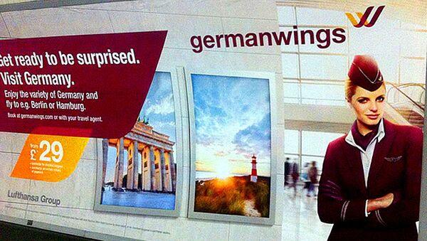 Germanwings advert in the London metro - Sputnik International