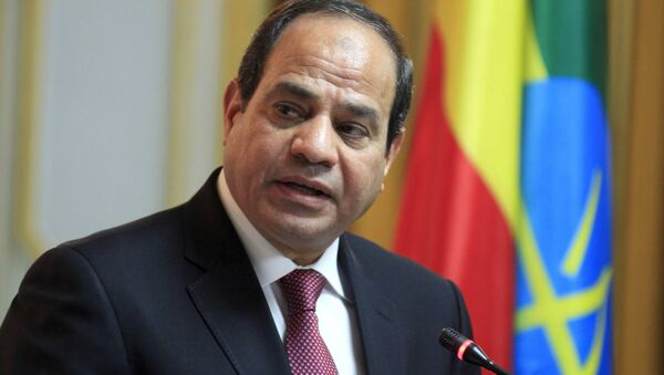 Egyptian President Abdel Fattah al-Sisi addresses a news conference after meeting Ethiopian Prime Minister Hailemariam Desalegn in Ethiopia's capital Addis Ababa, March 24, 2015 - Sputnik International