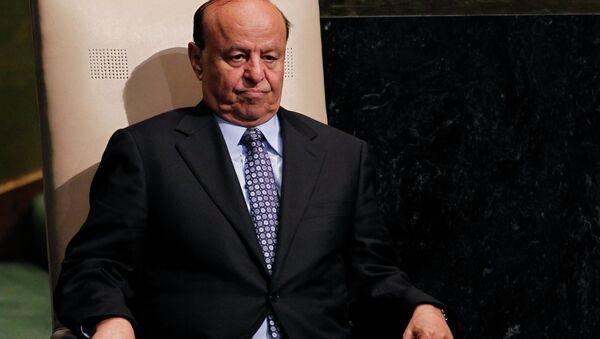 Yemeni President Abd Rabbuh Mansur Hadi - Sputnik International