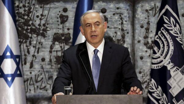 Israeli Prime Minister Benjamin Netanyahu speaks during a ceremony at President Reuven Rivlin's residence in Jerusalem - Sputnik International