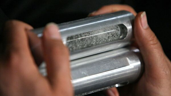 Sample of enriched uranium - Sputnik International