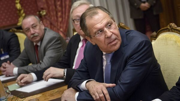 Russian Foreign Minister Sergei Lavrov said the P5+1 group and Iran agreed on all issues of Tehran's nuclear program and are due to start drafting preliminary agreement. - Sputnik International