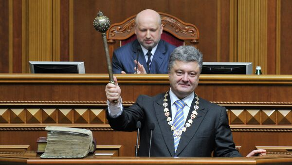 Petro Poroshenko inaugurated as President of Ukraine, June 7, 2014, following snap presidential elections held May 25, where Porosheko was able to secure victory in the first round of voting. - Sputnik International