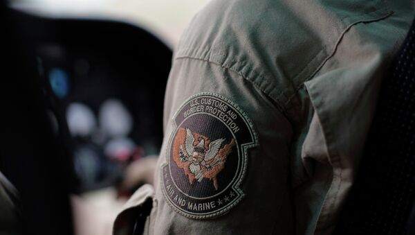 A US Customs and Border Protection Air and Marine agent's patch - Sputnik International