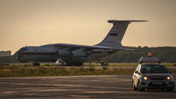 An EMERCOM Il-76 airplane - Sputnik International