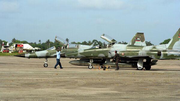 Kenyan Air Force F5 jet fighters stand at the Moi International Airport in Mombasa, Kenya - Sputnik International