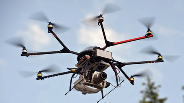 This drone has an advanced electronically scanning radar on board, equipment usually much too bulky and expensive for such small craft. - Sputnik International