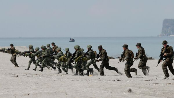 Nearly 12,000 soldiers will take part in this year's Balikatan military exercises. - Sputnik International