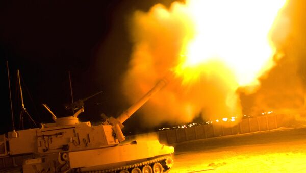 A self-propelled howitzer from the United States Army's Paladin Integrated Management program - Sputnik International