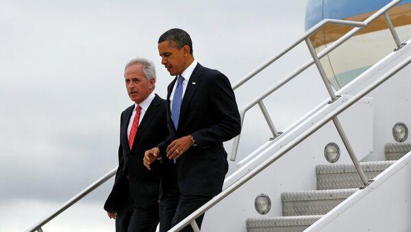 Barack Obama and Bob Corker - Sputnik International