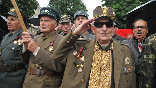 UPA militia celebrating 'Heroes Day' in Lviv, western Ukraine, 2015. - Sputnik International