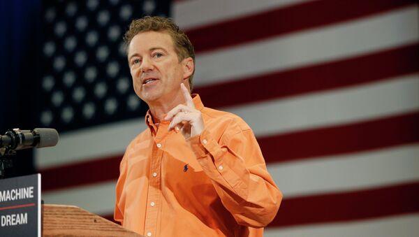 Republican Presidential candidate Sen. Rand Paul, R-Ky., speaks at a rally Saturday, April 11, 2015, in Las Vegas. - Sputnik International