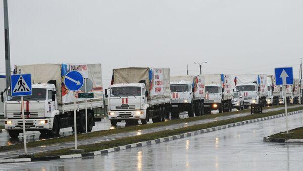 Russia sends 23rd humanitarian aid convoy to Donbas - Sputnik International