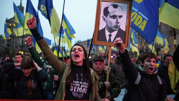 March honors the founding of Ukrainian Insurgent Army in Kiev - Sputnik International